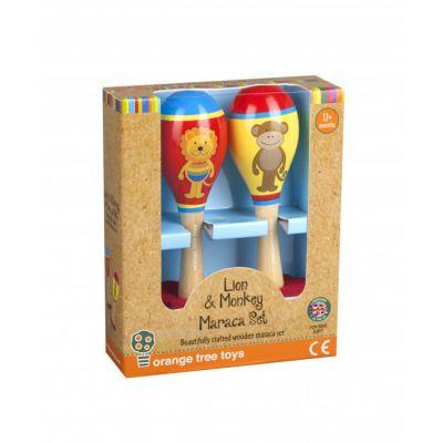 Orange Tree Toys Lion And Monkey Maracas