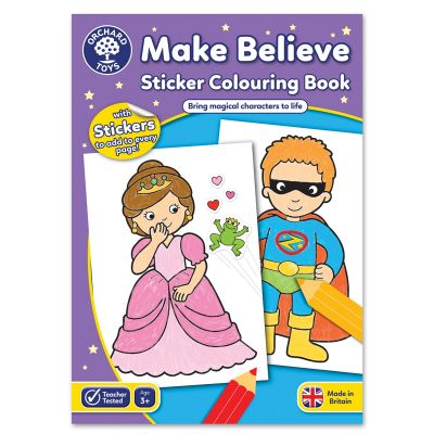 Orchard Toys Make Believe Sticker Colouring Book