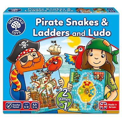 Orchard Toys Pirate Snakes And Ladders Ludo Board Game