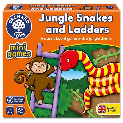 Orchard Toys Jungle Snakes and Ladders Mini Games