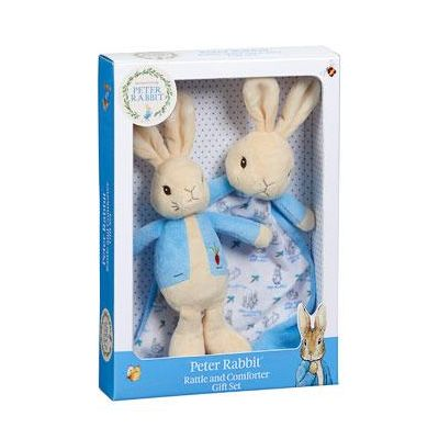 Beatrix Potter Peter Rabbit Comfort Blanket & Rattle Gift Set