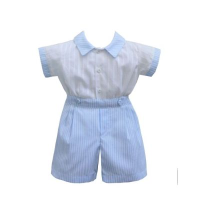 Pretty Originals Boys Stripe Top and Shorts Set ME00124