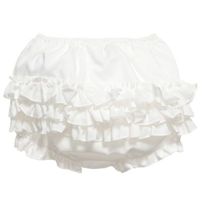 Sarah Louise Frilly Knickers Ivory