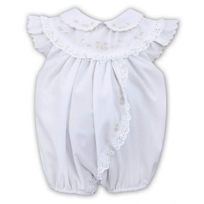 Sarah Louise White Lace Trim Romper 011458
