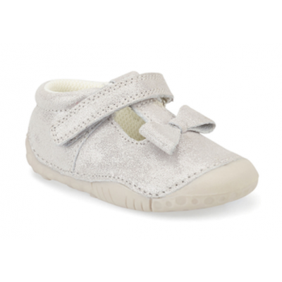 Start-Rite Baby Girls Wiggle Silver Pre Walker