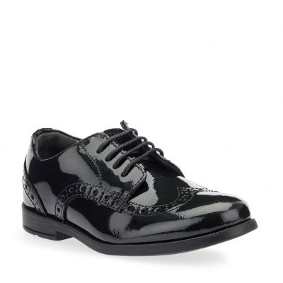 Start-Rite Girls Brogue Pri Patent School Shoes
