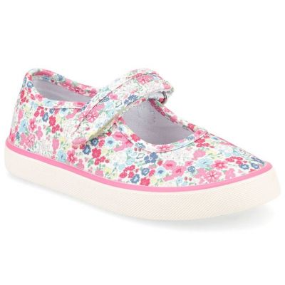 Start-Rite Girls Pink Blossom Canvas Shoe
