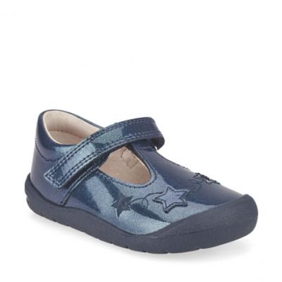 Start-Rite Girls Sparkle Navy Glitter Shoe