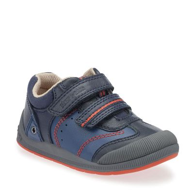 Start Rite Boys Navy Shoe Tough Bug