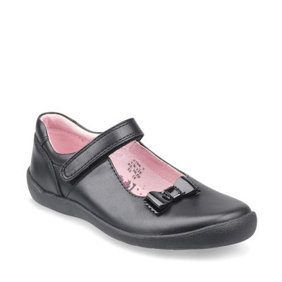 Start Rite Giggle Black Leather School Shoe
