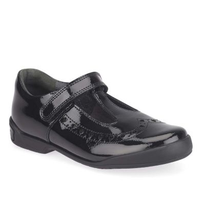 Start Rite Girls Leapfrog Black Patent School Shoe