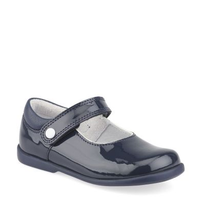 Start Rite Girls Navy Patent Shoes Slide