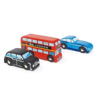 Tender Leaf Toys London Car Set