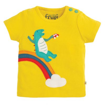 Frugi Baby Boys Scout Dinosaur T-Shirt TTS020