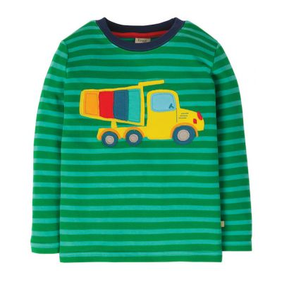 Frugi Boys Discovery Green Truck Top TTS025