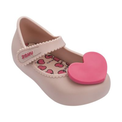 Zaxy Baby Girls Pink Heart Jelly Shoes