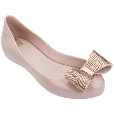 Zaxy Girls Blush Joy Chrome Bow Shoes