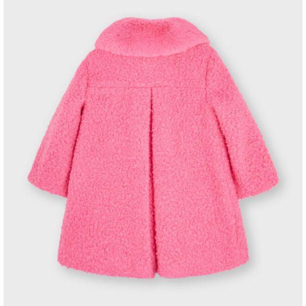 Mayoral Girls Pink Shearling Coat 4435