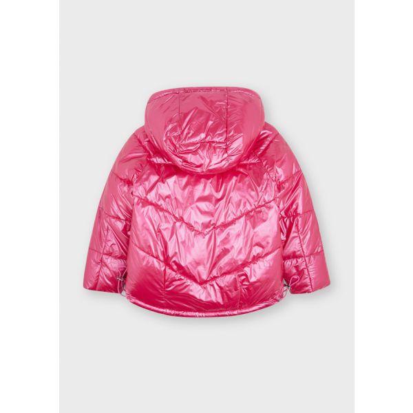 Mayoral Girls Silver Reversible Coat 4444