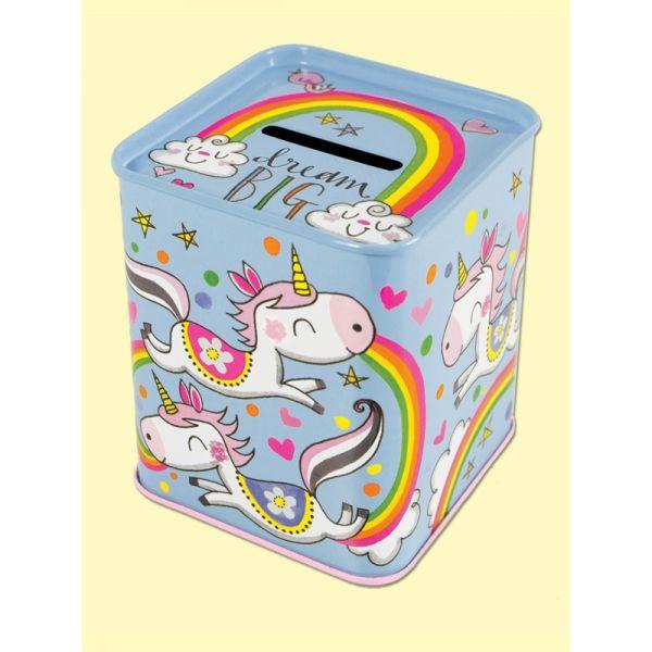 Rachel Ellen MONBOX11 Dream Big Unicorn Money Tin