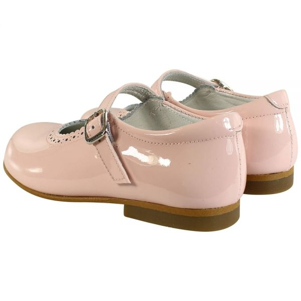 Andanines Pink Patent Mary Jane Shoes