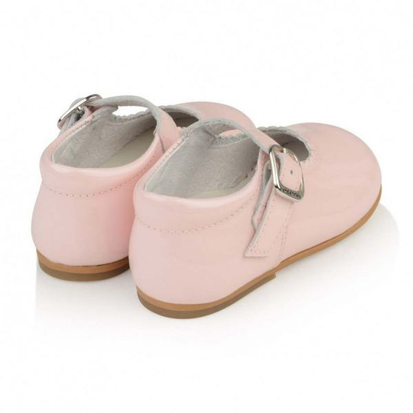 Andanines Pink Patent Baby Mary Jane Shoes