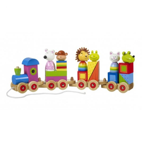 Orange Tree Animal Puzzle Train
