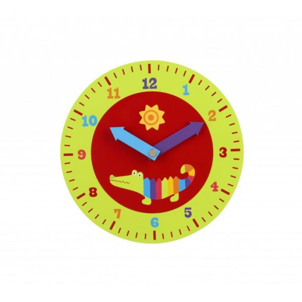 Orange Tree Crocodile Teaching Clock