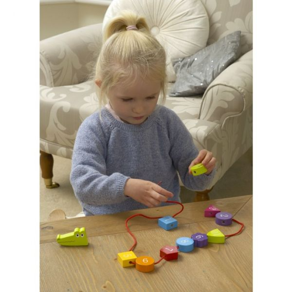Orange Tree Crocodile Threading Toy