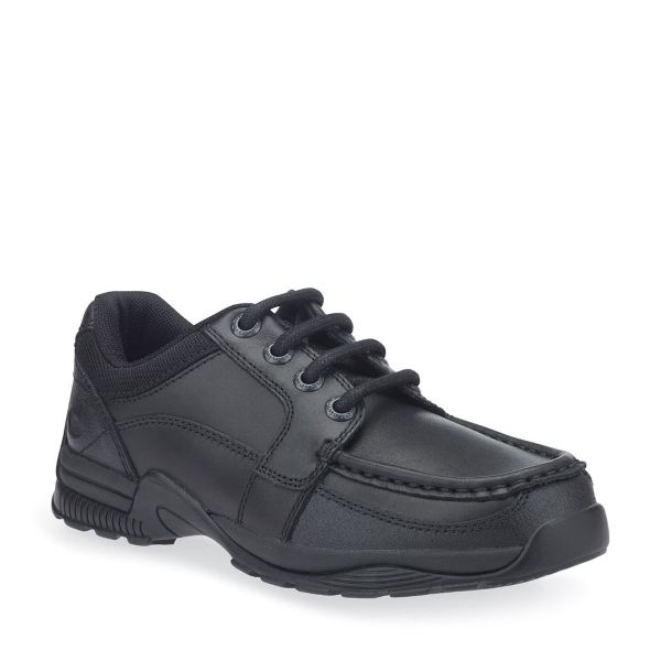 Start Rite Black Lace-Up School Shoes Dylan