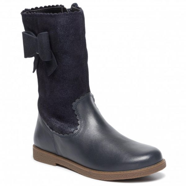 Geox Girls Navy Boot J944EA 07743 C4021