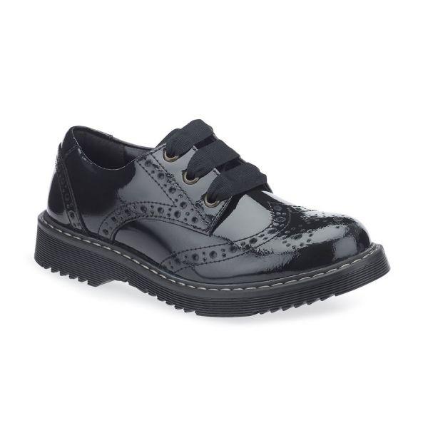 Start Rite Girls Impulsive Black Patent Shoe