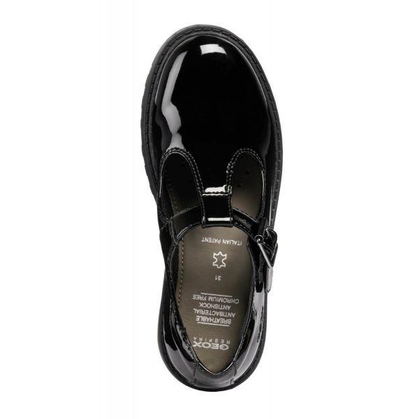 Geox Girls T-Bar School Shoes J8420E 000HH C9999