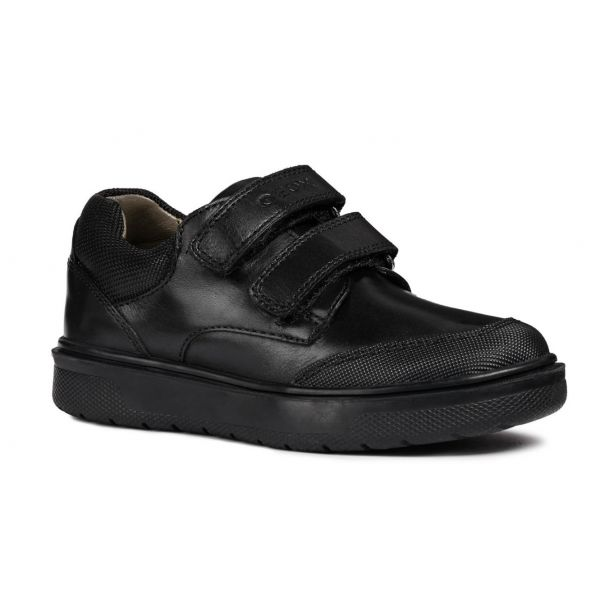 Geox Boys Riddock Double Velcro School Shoe