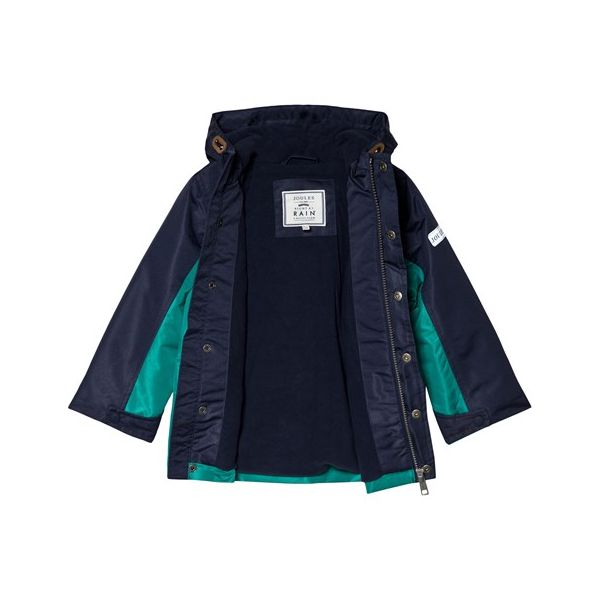 Joules Boys Blue and Green Playground Coat