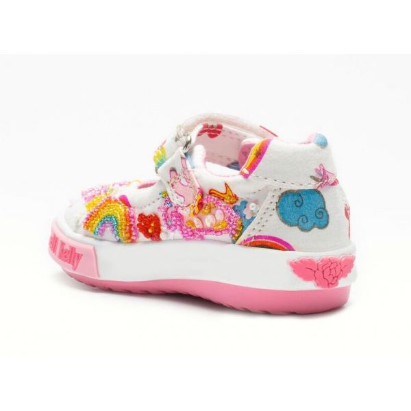 Lelli Kelly Baby Unicorn Canvas Shoe LK9000