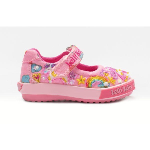 Lelli Kelly Baby Unicorn Pink Shoes LK9000