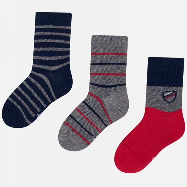 Mayoral Boys Red Sock Trio 10675