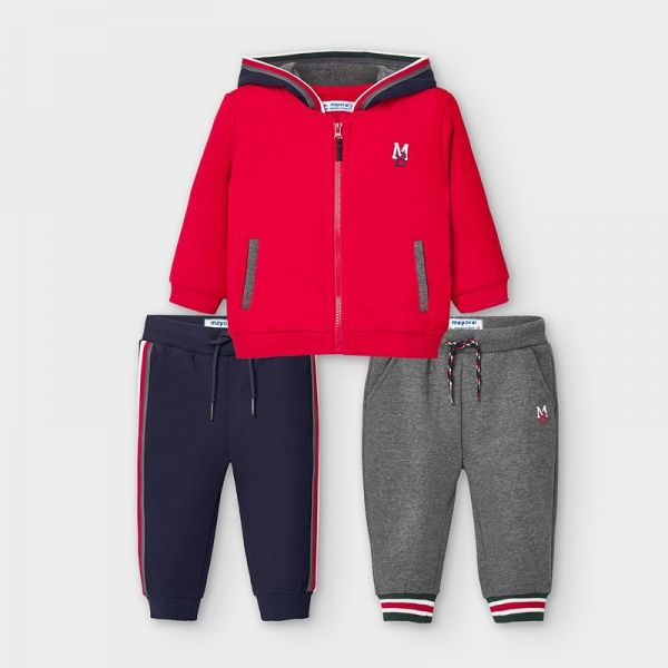 Mayoral Red Baby Tracksuit With Two Joggers 918