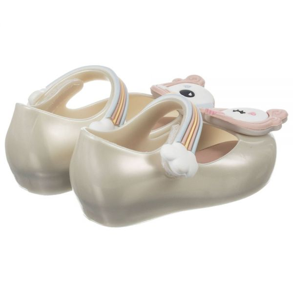 Mini Melissa White Unicorn Shoe