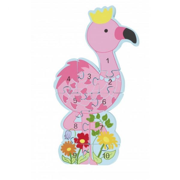Orange Tree Number Flamingo Puzzle