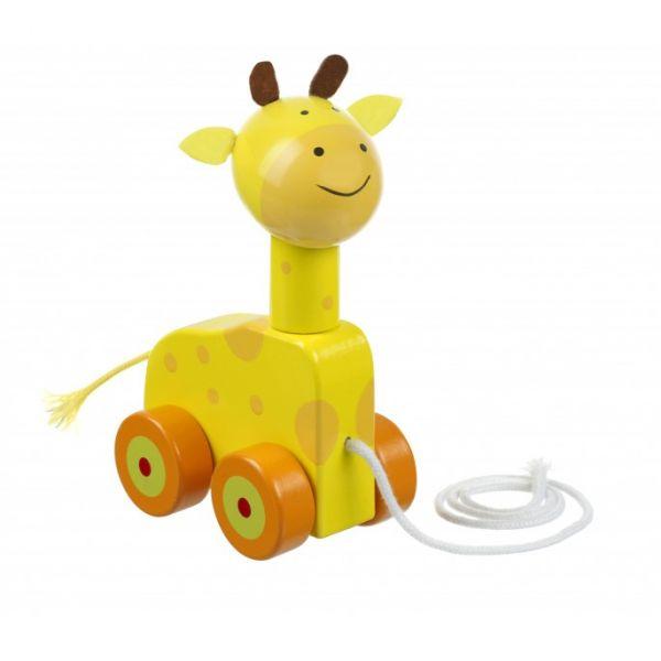 Orange Tree Giraffe Push Along Toy