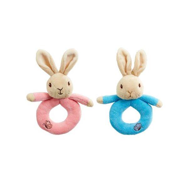 Beatrix Potter Flopsy Bunny Plush Ring Rattle