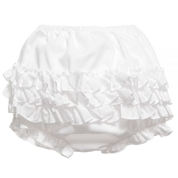 Sarah Louise Frilly Knickers White