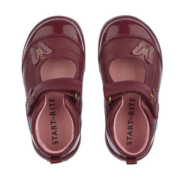 Start-Rite Girls Wine Swing Shoe