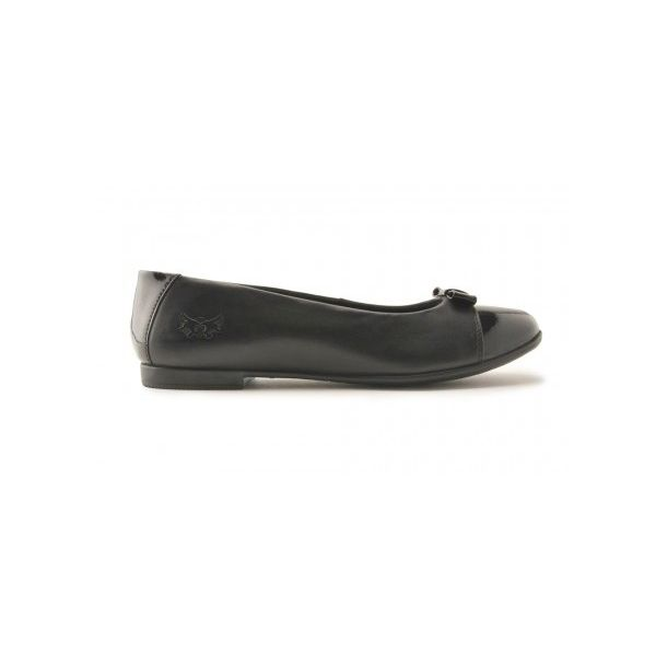 Start Rite Girls Isla Black Leather School Shoes