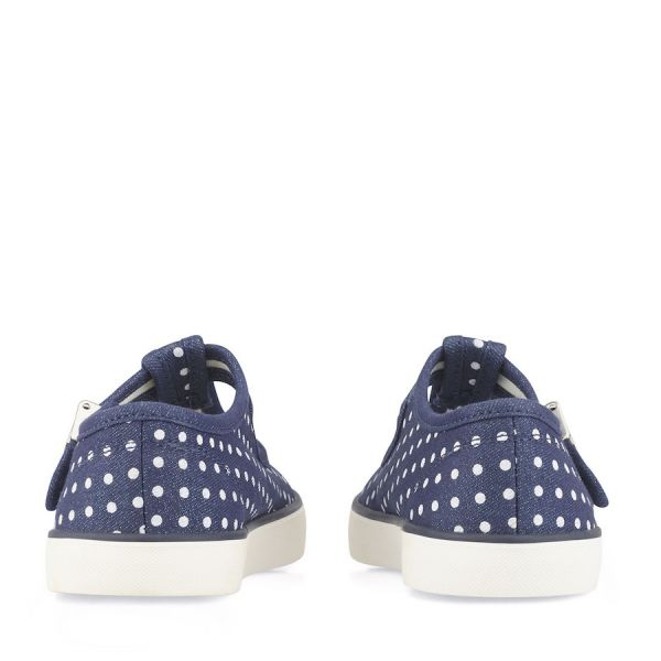Start Rite Girls Canvas Shoes Jitterbug Navy