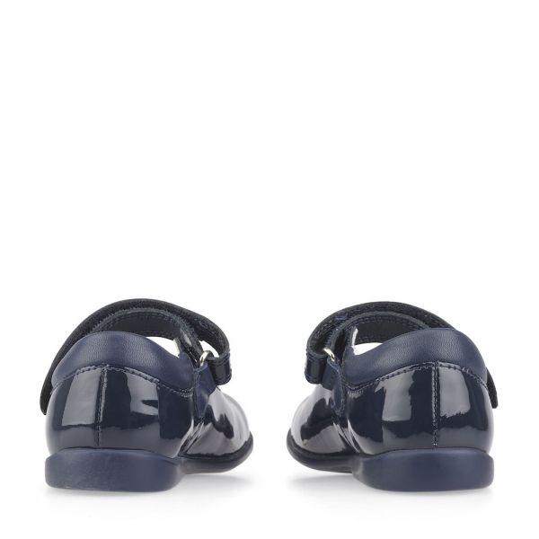 Start Rite Girls Navy Patent Shoes Slide
