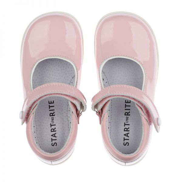 Start Rite Girls Pink Patent Shoes Slide