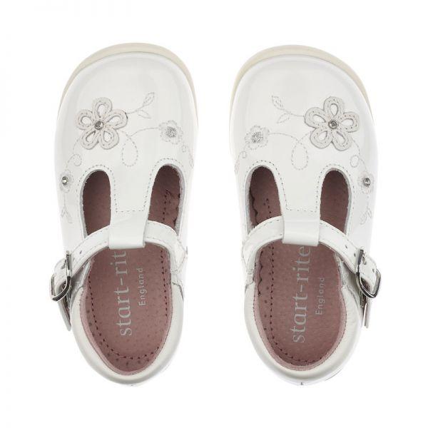 Start Rite Girls T-Bar Sunflower Shoes